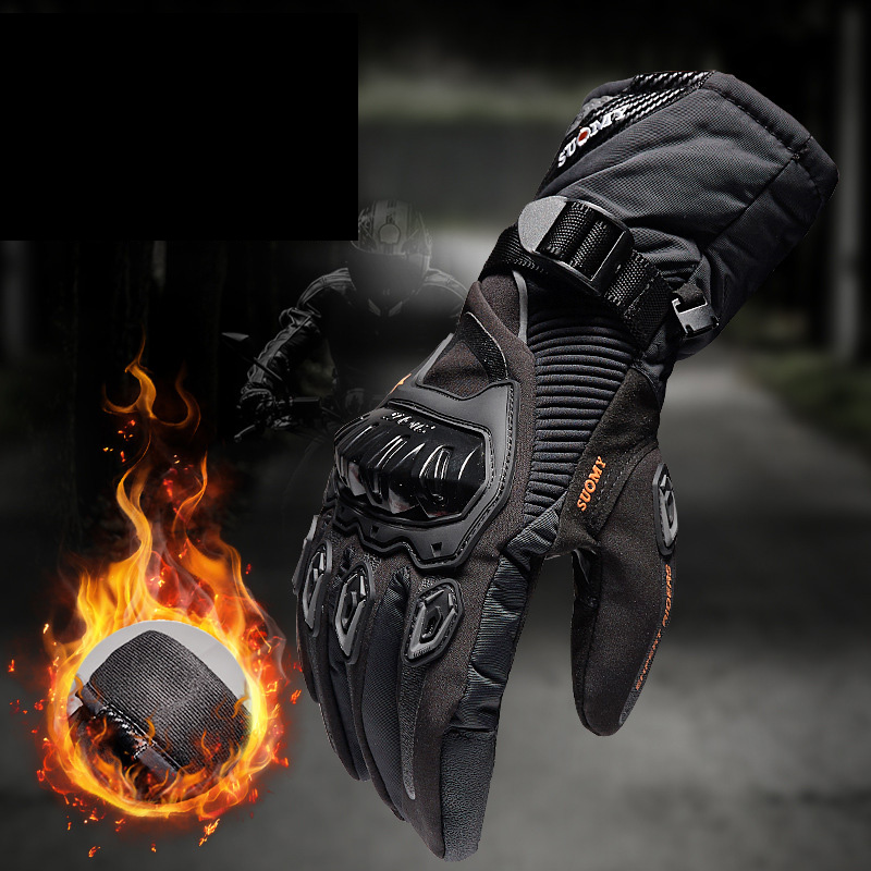 SUOMY motorcycle gloves 100% Waterproof windproof Winter warm Guantes Moto Luvas Touch Screen Motosiklet Eldiveni Protective(China)