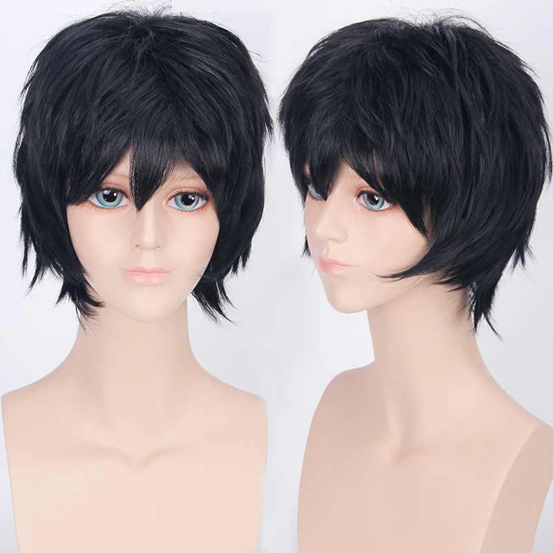 Coshome наруто одна деталь Fairy Tail Bleach Йато Хэллоуин Крис косплэй короткий парик для мужчин женщин чёрный; коричневый желтый синий