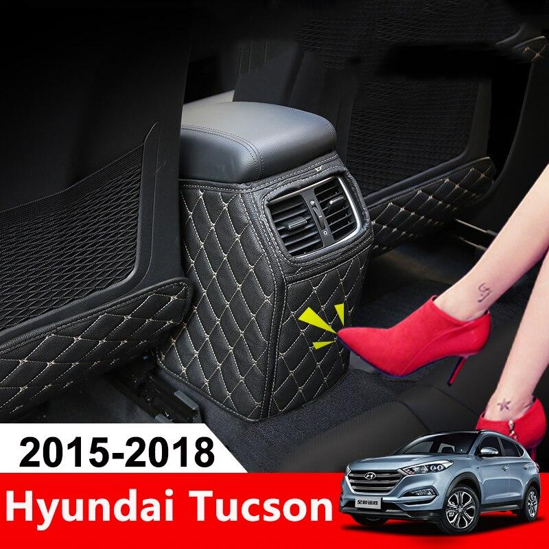 Siège de Voiture en cuir Couverture Arrière Protéger Saleté de Boue Protection Pad pour les Enfants Bébé Pied Tapis Pour Hyundai Tucson 2015 2016 2017 2018