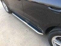 Maremlyn Hot Sale Factory Price Car Running Board Black Platic Side Bar Side Step For Porsche Cayenne 2013 Car Styling