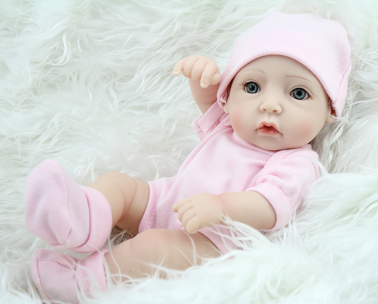 28cm Baby Silicone Dolls Silicone Reborn Baby Doll Little Girl Boy Photo Model Early Education