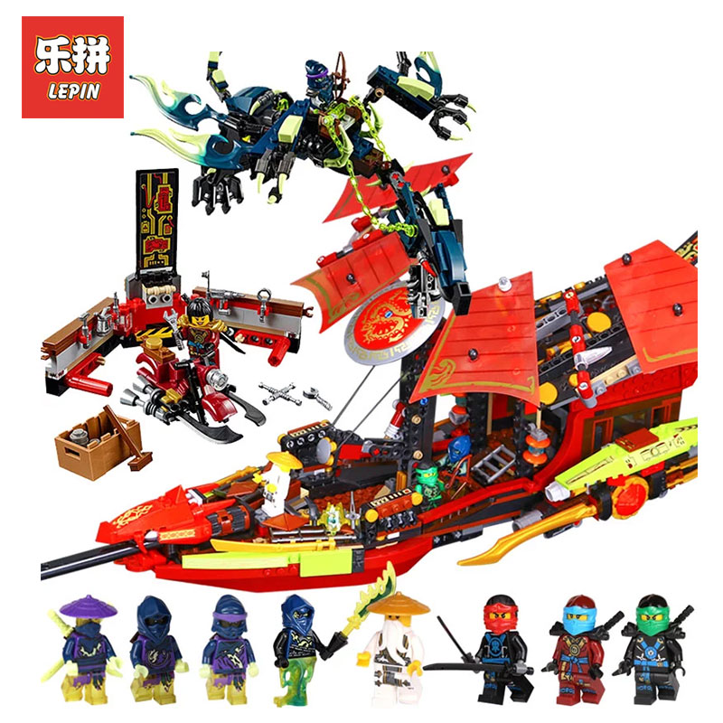 Lepin 06020 1325Pcs The Movies Series Final Fight of Destiny The Bounty Building Blocks Bricks Toys Model Compatible with 10402 dhl in stock lepin 06057 2455pcs ninja final fight of destiny s bounty ship building blocks bricks set diy toys fit for 70618