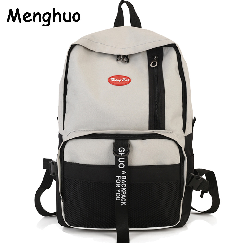 MENGHUO Fashion Backpack Women School Backpack for Teenage Girls Large Capacity Female Canvas Backpack Unisex Student Schoolbag
