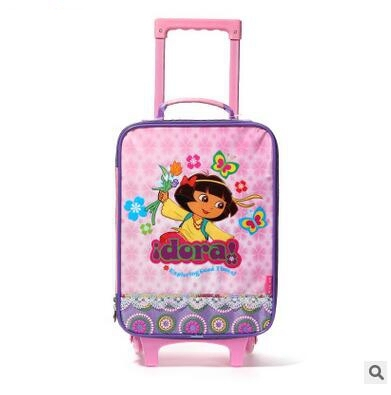 """16"""" Inch Travel Suitcase on wheels For Grils Children Travel Luggage Case Supreme Cartoon Kid's rolling luggage Trolley Bags"""