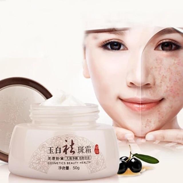 50g Herbs Essence Whitening Facial Cream Fade Dark Spots Skin Care Face Cream Melanin Exfoliator Removing Freckle Cream Chloasma