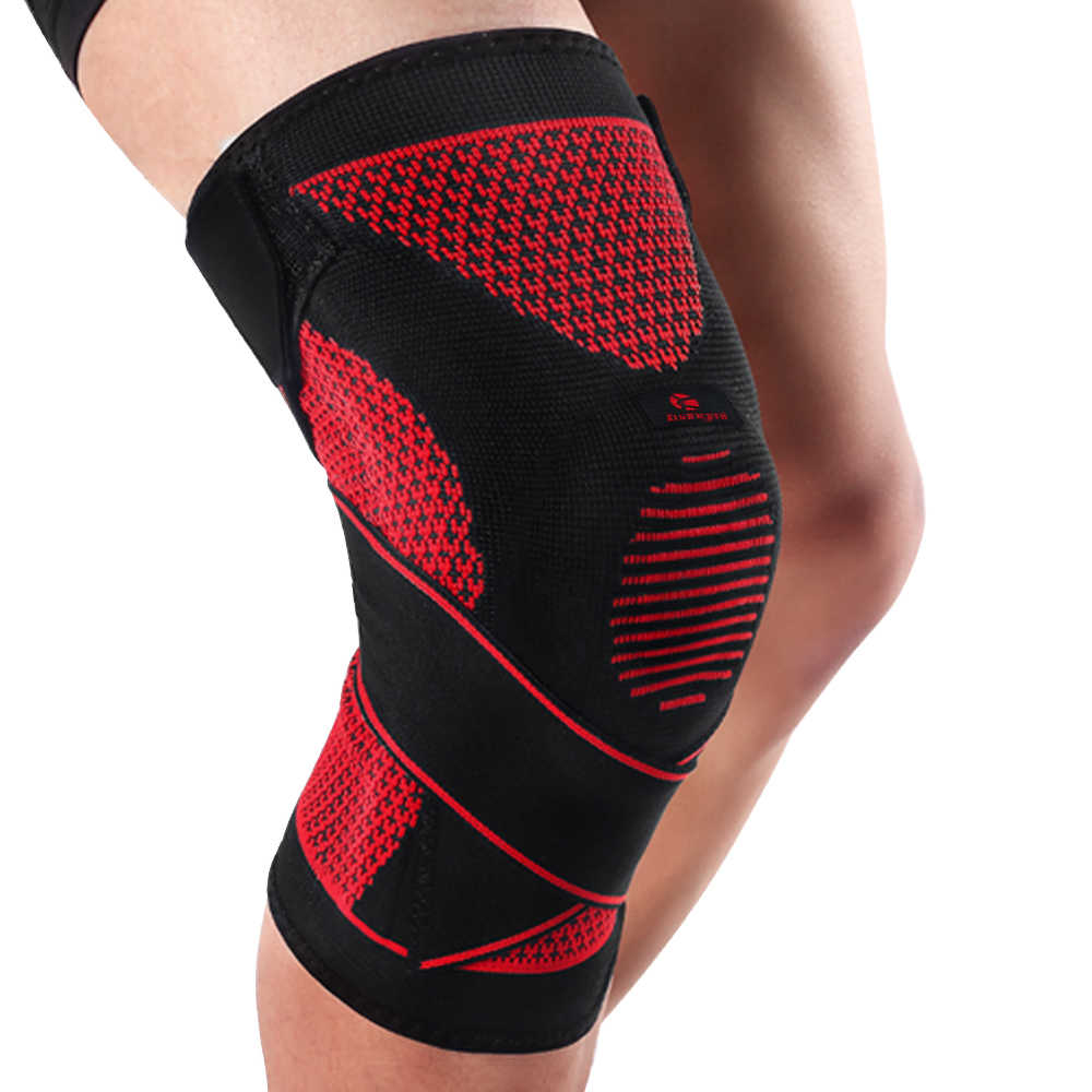 326a20a8dc Detail Feedback Questions about Kuangmi Compression Knee Sleeve Support  Sports Silicone Knee Pads Basketball Adjustable Bandage Spring Brace  Patella ...