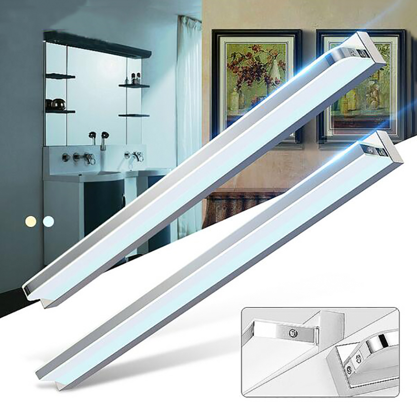 50cm 8W Wall Light Right Angle Style LED Modern Acrylic Wall Lamp Indoor Bathroom Mirror Light Stainless Steel Sconce Fixtures modern led wall lamp mirror wall lamp wall light with frosted acrylic shade 5 kinds of size guaranteed 100