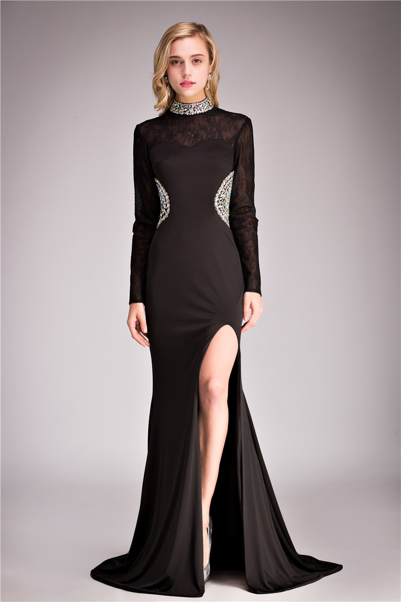 Popular Ruched Black Long Formal Dresses-Buy Cheap Ruched Black ...