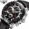 New LIGE Luxury Brand Watch Men Fashion Casual Sport Quartz Wristwatch Leather Waterproof Men S Watches
