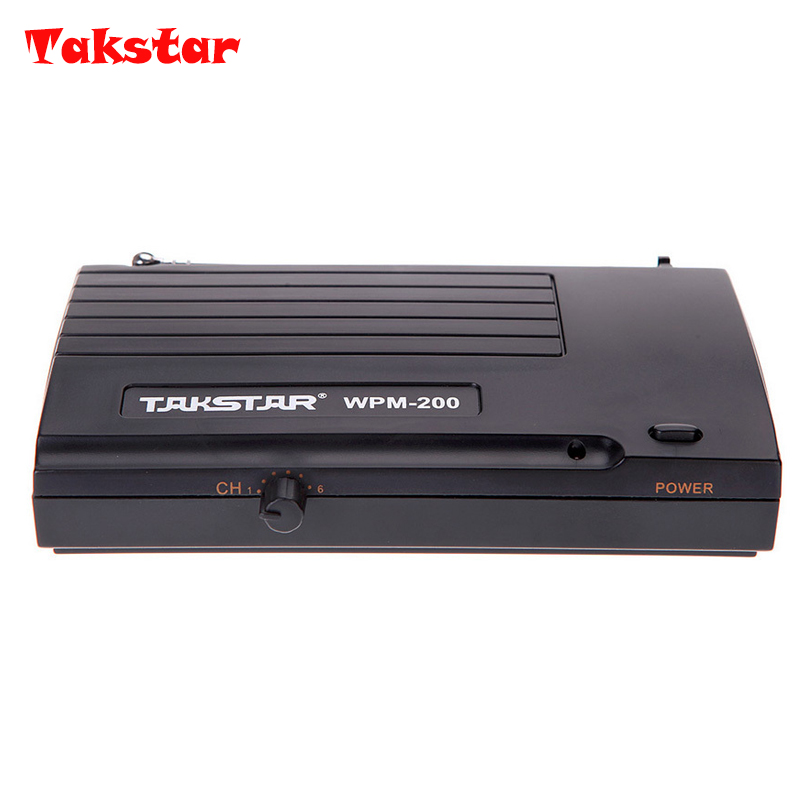Original Takstar wpm-200 Wireless ear  ONLY Single Transmitter + Power Adapter Accessories UHF Wireless Monitor System ukingmei uk 2050 wireless in ear monitor system sr 2050 iem personal in ear stage monitoring 2 transmitter 2 receivers