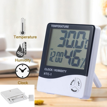 New Indoor Instruments LCD Digital Clock Electronic Hygrometer Thermometer Temperature Alarm