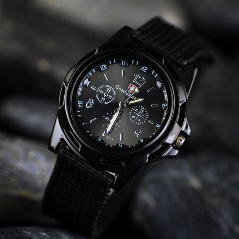 Relogio Masculino Outdoor Racing Military Sport Canvas Watch Band Mens Quartz Watch Fashion Casual  Male Clock Zegarki Meskie