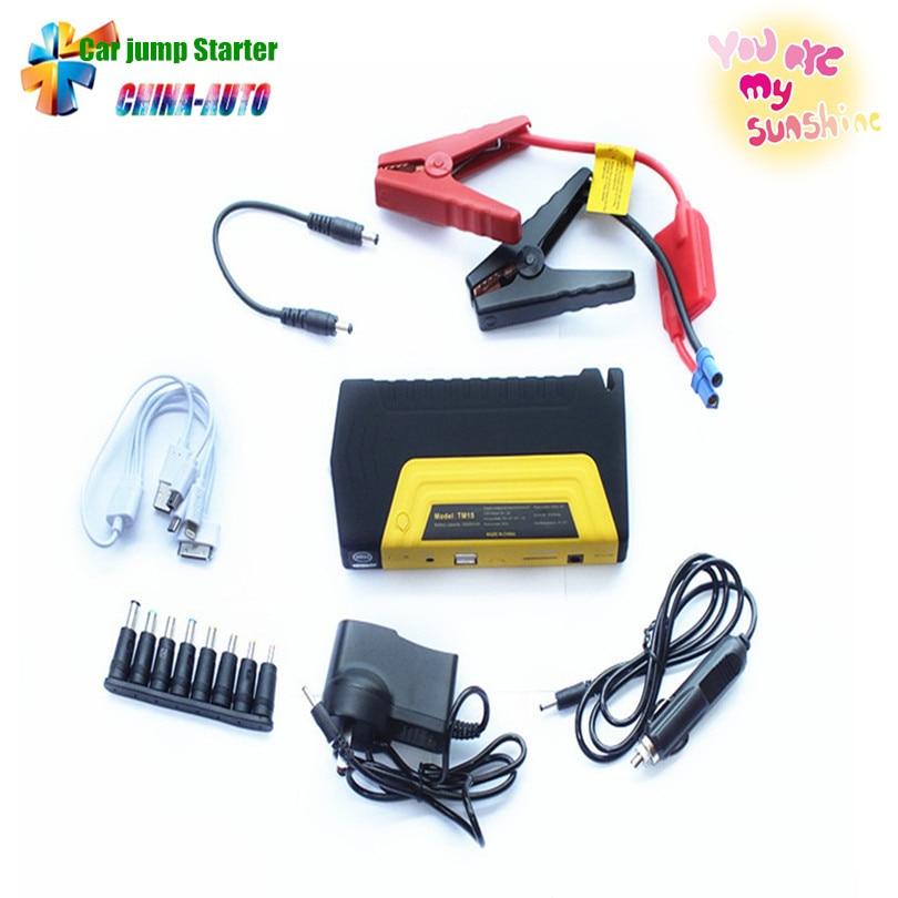 Mini Portabl voiture saut démarreur moteur Booster voiture d'urgence saut démarreur voiture batterie externe chargeur pour téléphones portables ordinateur portable