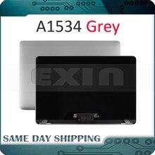 Brand New Grey Grijs Kleur A1534 Lcd-scherm Vergadering voor Macbook Retina 12 ''A1534 Compleet Volledige Vergadering 2015 2016 2017