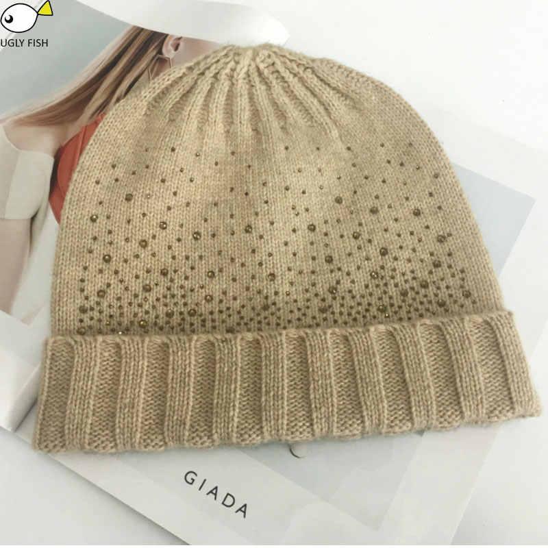 帽子スカーフセットスカーフ、帽子 & 手袋セットはニット冬の帽子とスカーフ女性とダイヤモンド