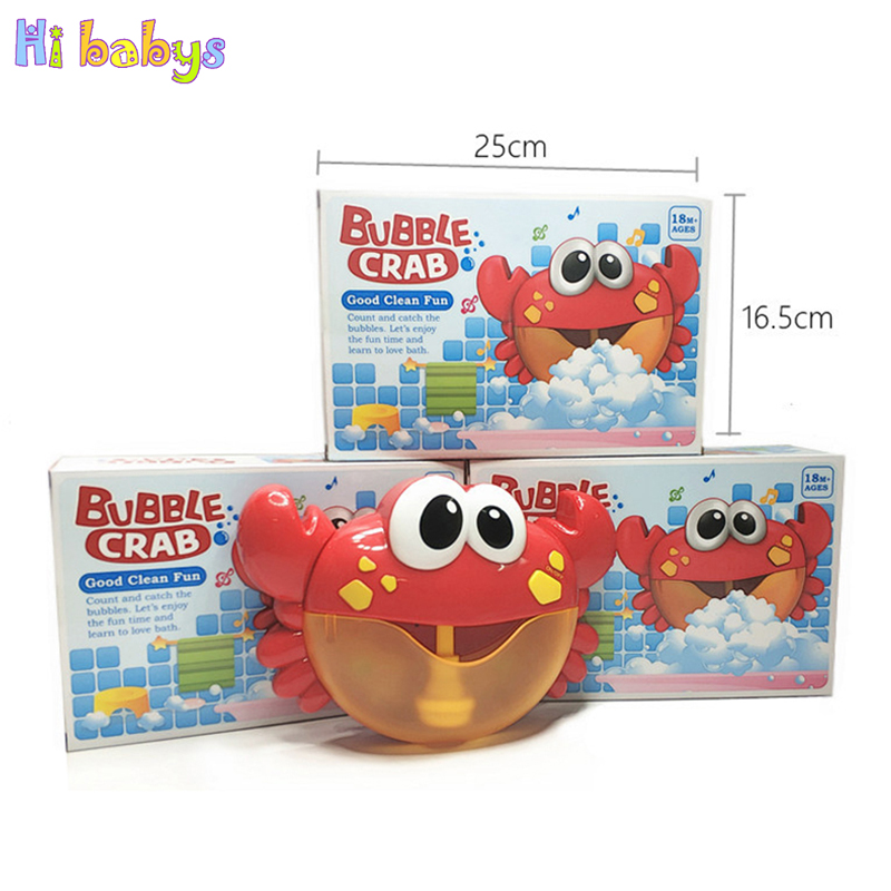 Bubble Crabs Baby Bath Toy Funny Bath Music Bubble Maker Swimming Bathroom Toys Summer Bathtub Soap Machine Toys For Children Classic Toys Toys & Hobbies