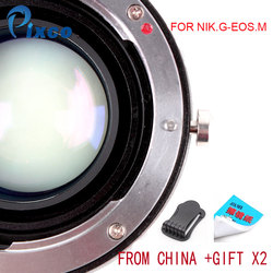 Pixco N.G-E.M Speed Booster Focal Reducer Lens Adapter Suit For Nikon F Mount G Lens to Suit for Canon EOS M Camera Dropshipping