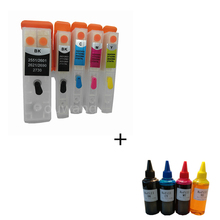 5PCS T2621 26XL Refill Ink Cartridge compatible for epson xp-820 XP-600 XP-605 XP-700 XP-800 XP520 XP620 XP625 + 400ml dye ink