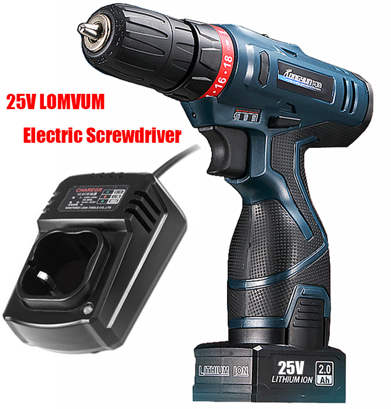 LONGYUN 25V Lithium Battery Electric Screwdriver Hand Precision Charging Drill Cordless Drill Torque Drill Power Tools