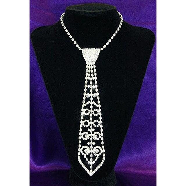 Festa de casamento nupcial Prom cristal Rhinestone gravata colar CC027