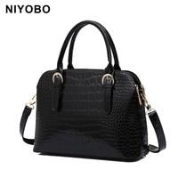 Luxury Designer Women Crocodile Bags Ladies PU Leather Handbag Tote Bag Famous Fashion Brand Shoulder Bag