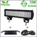 CE Rohs IP67 waterproof 12Inch 72W 5760-7200LM combo double rows auto car led light bars offroad for 12v 24v