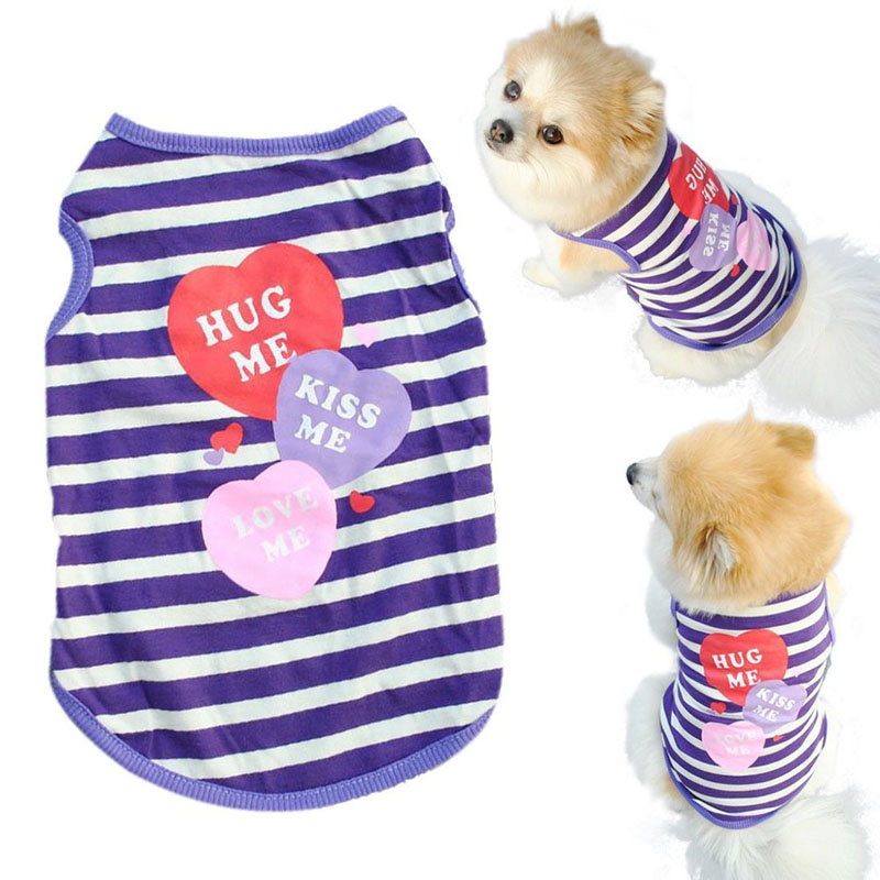 2017 Promotion Pet Dog Clothes Cat Spring Summer Stripe Shirt Small Clothes Vest T Shirt Ropa Para Perros Dog Clothes Summer