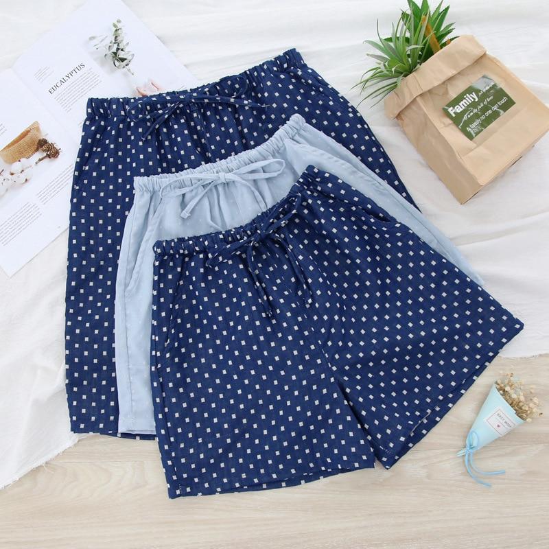 Casual Polka Dot Summer Pajamas Bottoms Pants Short Female Sleep Pant Cotton Women Pijama Pant Sleepwear Home Pants