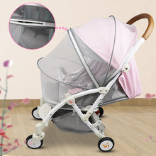 Baby Stroller Mosquito Insect Net Accessories Safe Mesh Buggy Crib Netting Cart Mosquito Net Pushchair Full Cover Netting(China)