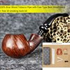 Classic Imported Briar Wood Smoking Pipe Renowned Pipe Maker Handmade Filter Tobacco Cigarettes Cigar Apple Bent