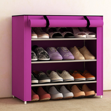 Single non-woven reinforcement fabric shoe storage
