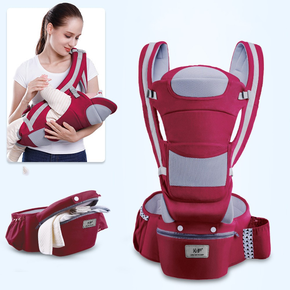 0-48M Ergonomic Baby Carrier Infant Baby Hipseat Carrier Front Facing Baby Wrap Sling For Travel 22