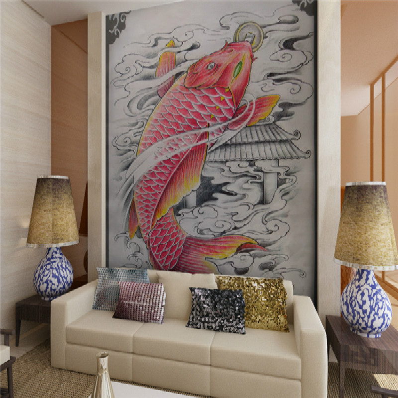 Compare prices on koi wallpaper online shopping buy low for Custom mural cost