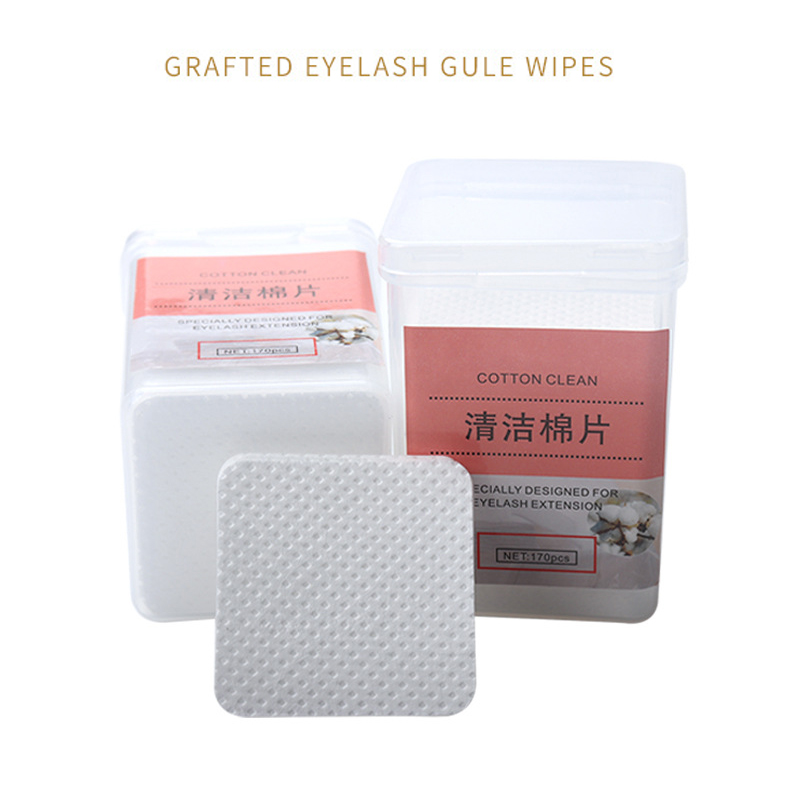 Dropshipping 170 Pcs Eyelash Extension Glue Remover Cotton Wipes Non-woven Fabric Lint Free Paper Pads SMJ