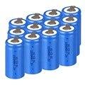 High quality ! 12PCS Sub C SC battery rechargeable battery 1.2V 2200mAh Ni-Cd Ni-Cd Battery Blue Batteries -4.25*2.2cm