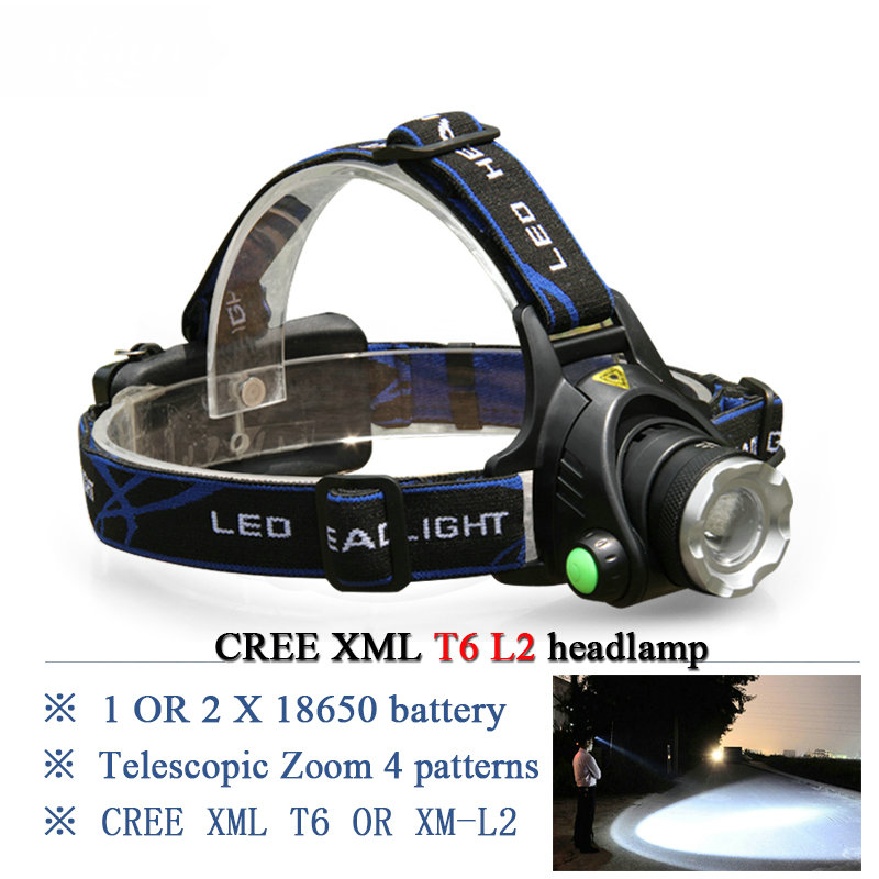 Powerful T6 Led Headlamp Lanterna De Cabeca Led Rechargeable Flashlight Hoofdlamp Camping Daily Work Headlamp