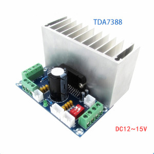 Image 1 - TDA7388 Class AB 2/4 channel 4x41W Stereo Surround Audio Power Amplifier Car Amp