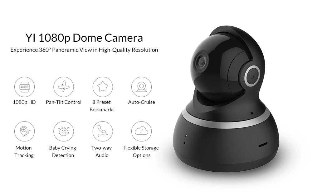 """Йи купол камера 1080 р 112 """"широкий формат 360"""" вид наклонно-поворотное управление ночное видение 2 способ аудио IP веб-камера международная версия в xiaoyi"""