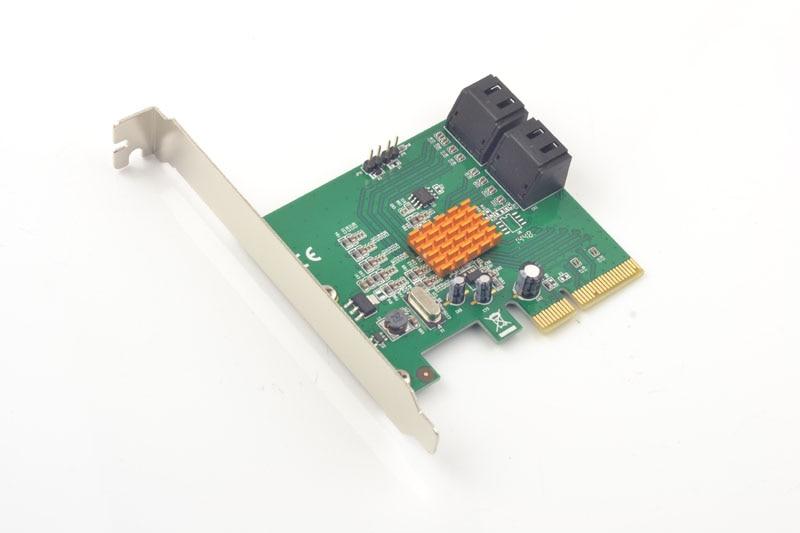 все цены на PCI-Express to 4 Ports SATA3.0 6Gb HDD SSD Raid Controller Card 88SE9230 Chipset онлайн