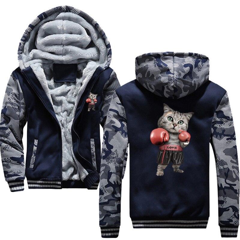Nouveau Puglism Starke Boxer Kinder Lustige à capuche imprimer 3D veste hommes 2018 hiver chaud sweat Hip Hop Street Costume