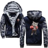 new Puglism Starke Boxer Kinder Lustige Hoodie Print 3D Jacket Men 2018 Winter Warm Sweatshirt Hip Hop Street Costume