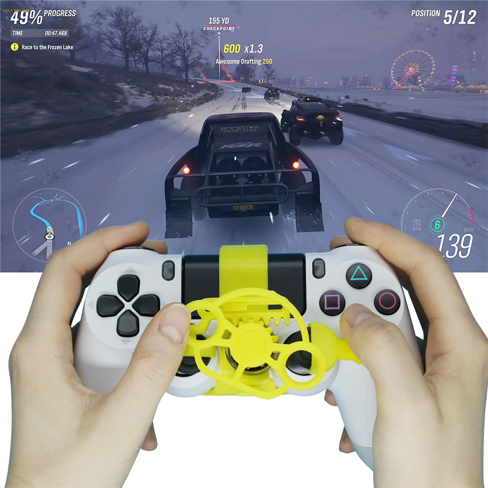 For PS4 Mini Steering Wheel Set for Sony PlayStation 4 Gamepad PC Computer Racing Game Controller Accessory Simulation Simulator image