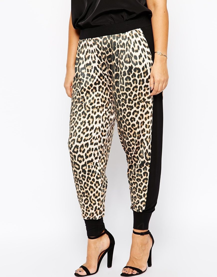 Sexy Loose Leopard Women Pants 6Xl 5Xl Plus Size Lady -3953