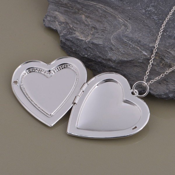AN1449 romantic Photo Frame design plated silver heart pendant ...