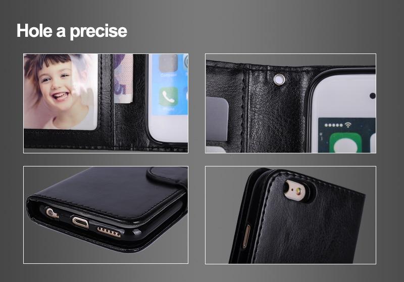 LANCASE Untuk iPhone 6 Kasus Kulit 2 in 1 Magnetic Dilepas Flip Cover - Aksesori dan suku cadang ponsel - Foto 5