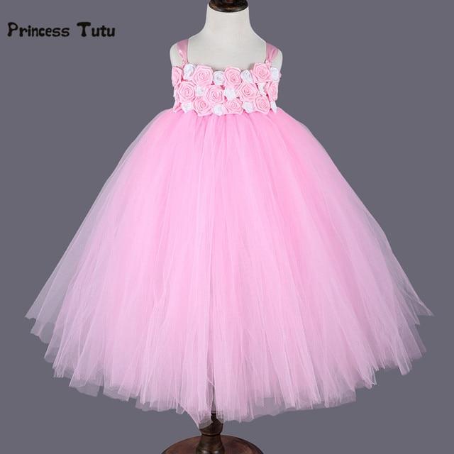 Rose flower girl dresses white pink wedding ball gown princess tutu rose flower girl dresses white pink wedding ball gown princess tutu dress kids girls birthday pageant mightylinksfo