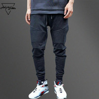 Aelfric Eden G DRAGON Joggers Sweatpants Pleated Simple Men Pants Feet Ninja Trousers Man Cotton Harem