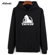 2018 nuevo Eminem Hoodies hombres mujeres primavera algodón negro Eminem  hombres Hoodies y sudadera alta 92a833905a5