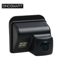 SINOSMART In Stock High Quality Rearview Parking Reverse Camera for Mazda 6 CX 5 CX 7 CX 9 Install in License Plate Lamp Hole