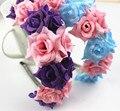 2016 moda de rosa flor de Halo para festas de casamento menina rosa coroa Headpiece decoração
